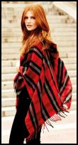 Fringe Plaid Blanket Cape.