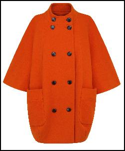 M&S Orange Cocoon Coat