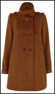 Brown Military Coat.