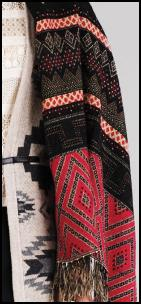 Fabric Pattern Detail of Warehouse AW11 Poncho.