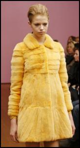 Philosophy Yellow Fur Coat.