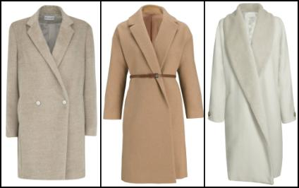 Camel Wrap Coat.