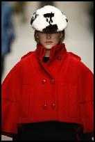 Burberry Celebrates The British Wool Red Cape.