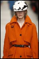 Burberry Orange Coat.