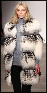 Tiped White Chubby Fur Coat