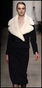 Black Suit White Fur Collar.