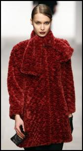 Rich Russet Red Fur Coat.