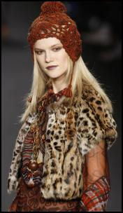 Leopard Print Fur Gilet from Anna Sui AW11.