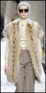 Fendi AW11 Long Fur Gilet Sleeveless Coat.