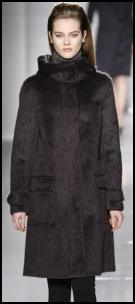 Max Mara Funnel Neck Fur Coat.