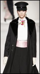 Black Moschino AW11 Coat.