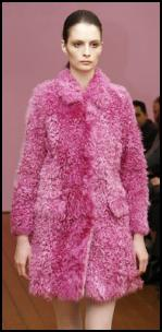 1960s Baby Doll Styling - Pink Fur Retro Mod Coat.