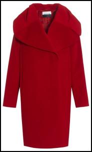 Jaeger AW11 - Guardsman Red Oversized Cocoon Long Wrap Coat.