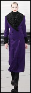 Purple Fur Collar Coat.