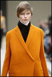Celine Pumpkin Yellow Coat.