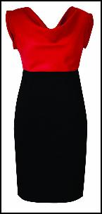 Colour Block Red Black Dress