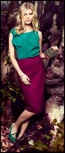 Monsoon/Accessorize AW11 Pencil Skirt & Teal Blouse