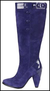 Hush Puppies Sturdy High Heeled Suede Blue Boots.