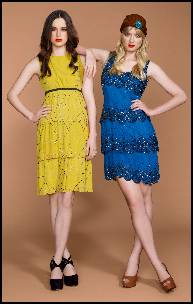 Yellow and Blue Beaded Dresses