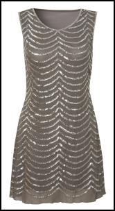 Apeicot AW11 - Silver Grey Sequin Shift Dress.