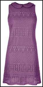 Purple Lace Dress - Very.co.uk.