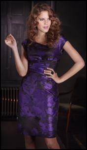 Purple Multi Jacquard Dress.
