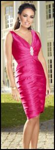 Celebrity Fashion - Pink Dress Worn By Tamara Ecclestone. Ultimo Couture Collection At Debenhams.