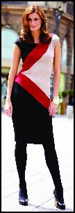 Bonmarch� Colour Block Dress.