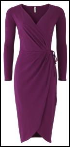 People Tree Purple Wrap Draped Dress.