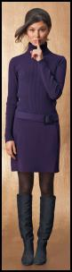La Redoute Purple Rib Sweater Dress.