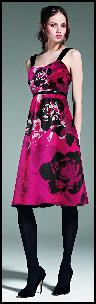 Satin Floral Party Dress.