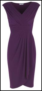 Marks & Spencer AW11 Purple Draped Dress.