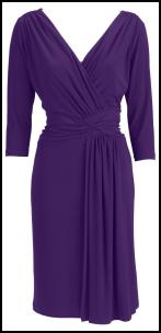 V-Neck Draped Purple Dress - Isme AW11.