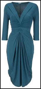 Oli - Teal Blue Drape Jersey Dress.