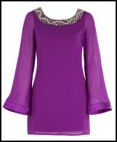 Lipsy AW11 Purple Tunic Dress.