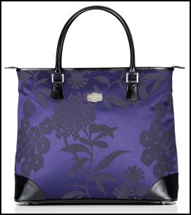 Jasper Conran At Tripp Luggage - Large Purple Grape Brocade Bag.