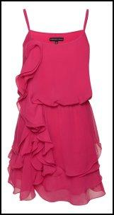 Pink Chiffon Ruffle Dress - Fashion Union.