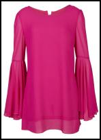 Hot Pink Bell Sleeved Shift Dress.