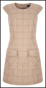 NEXT A-line 60s Heritage Check Pinafore Pocket Shift Dress.