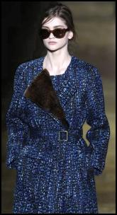 Teal and Rich Blue Tweed Coat - Dries Van Noten AW11.