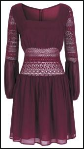 Burgundy Crochet Dress.