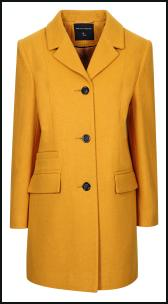 Dorothy Perkins AW11 Yellow Gold Mustard Coat.