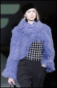 Purple Fur Shrug - Emporio AW11.