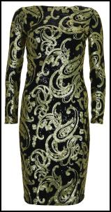 Topshop Paisley Sequin Dress Christmas 2011.
