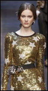 Dolce & Gabbana Sequin Gold Star Dress.