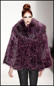 Purple Fur Jacket.