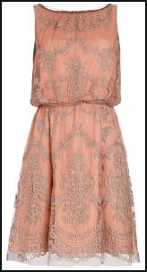 Etienne Lace Peach Dress.