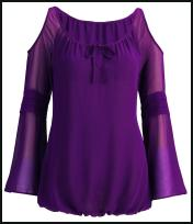 Isme Purple Peephole Shoulder Top.