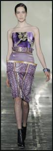 Inspirational Purple Print Fashion - Mary-Katrantzou - AW11.