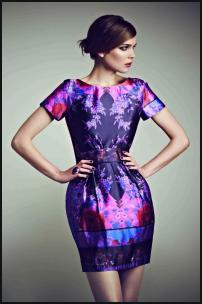 Oasis Purple Print Dress.